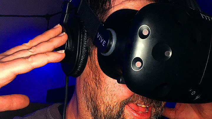 Matthew Wearing the HTC Vive
